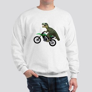 Dirt Bike Wheelie T Rex Sweatshirt